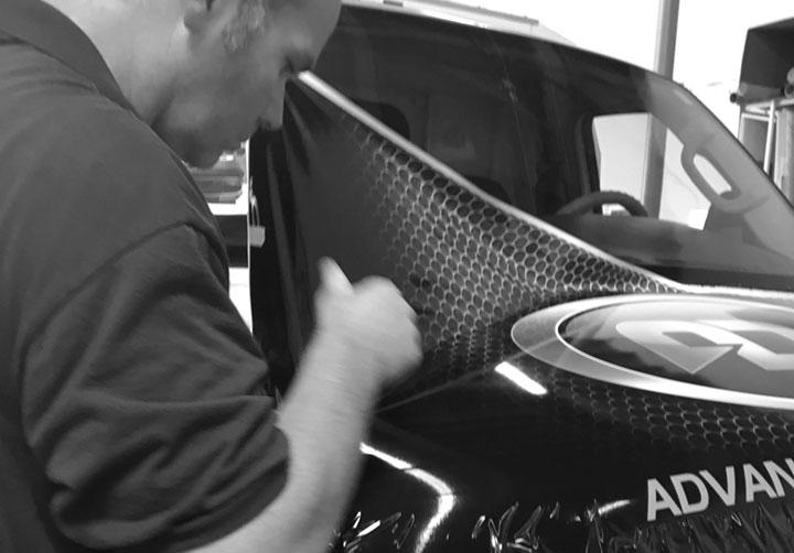 Vehicle Wrap Installation Van